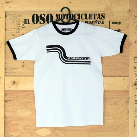 Camiseta Riberafornia blanca de El Oso Motocicletas