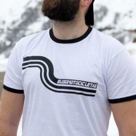 Camiseta Riberafornia blanca El Oso Motocicletas