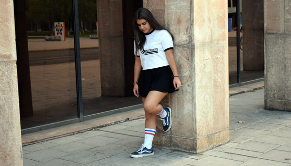 Camiseta Riberafornia blanca para chica