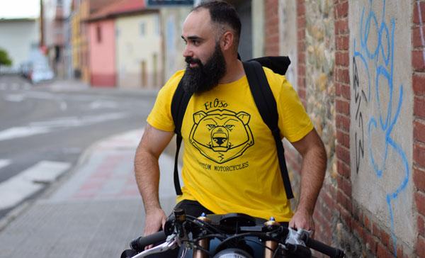 Camiseta Big Head amarilla para chico