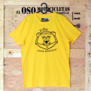 Camiseta amarilla El Oso Custom Motorcycles