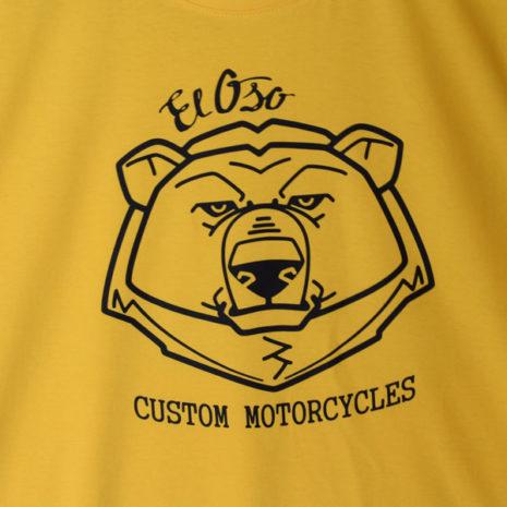 Camiseta El Oso Custom Motorcycles amarilla