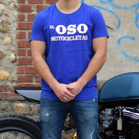 Camiseta azul EL Oso Motocicletas Oeste