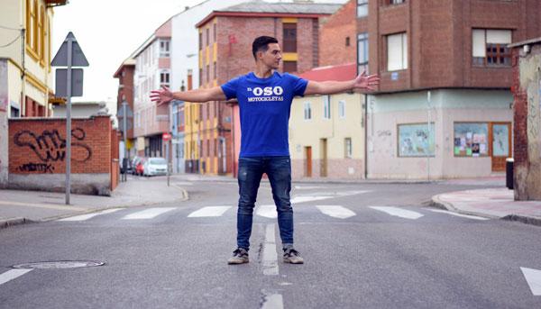 Camiseta azul El Oso Oeste para chico