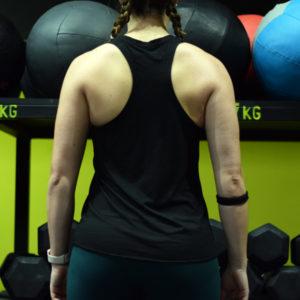 Camiseta de chica para entrenamiento con tirantes