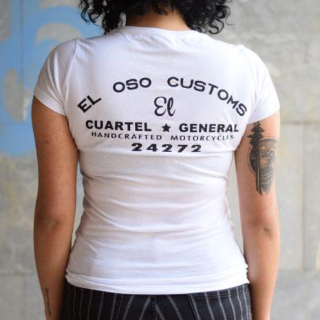 Camiseta cuartel general Eloso para chica detras